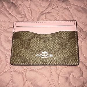 Coach Signature Canvas Card Holder